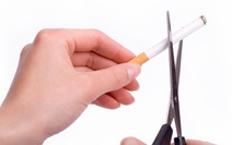 Cutting a cigarette in half
